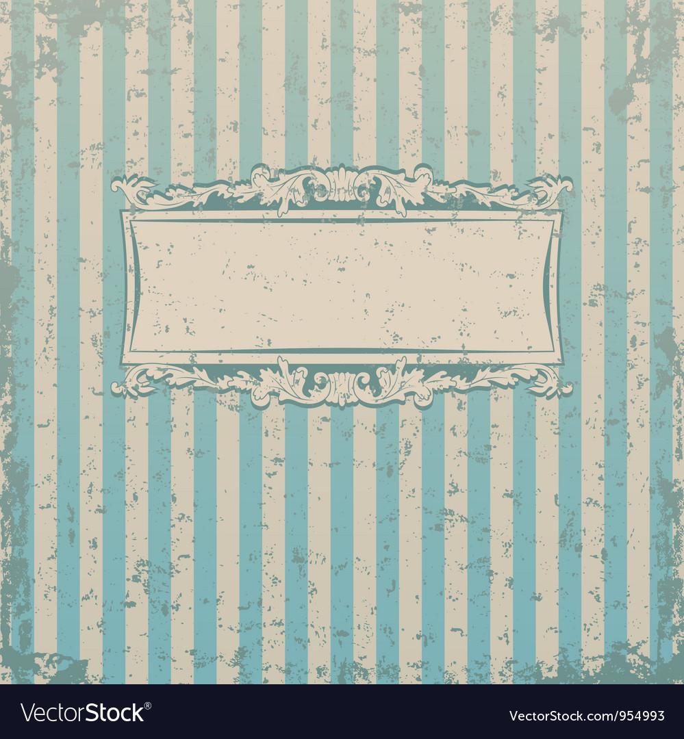 Striped retro background vector image