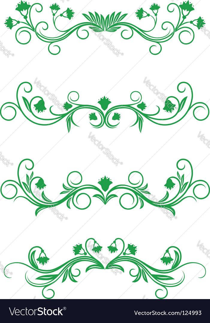 Vintage floral frames Royalty Free Vector Image