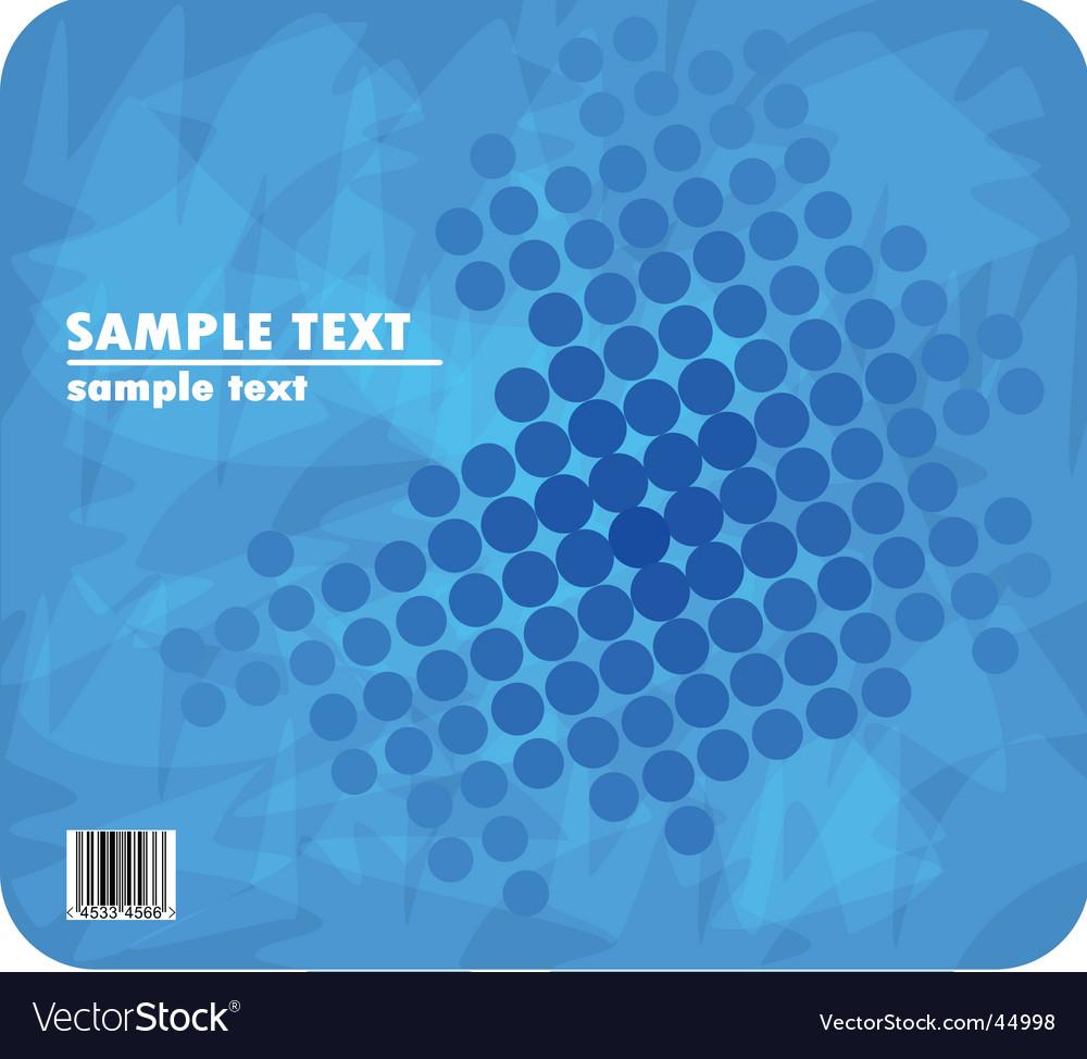 Blue halftone vector image