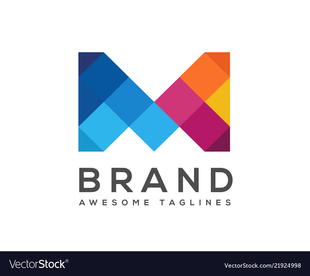 Creative letter m colorful