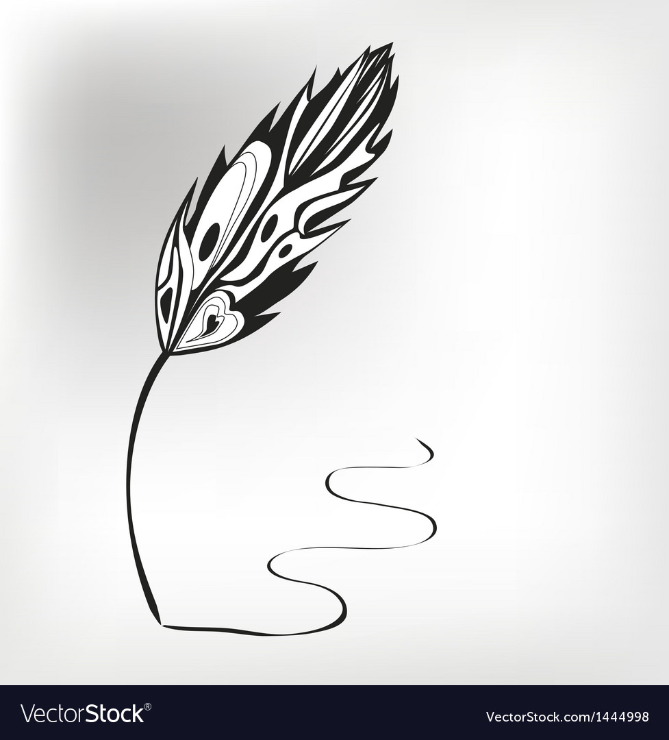 Feather calligraphic pen background