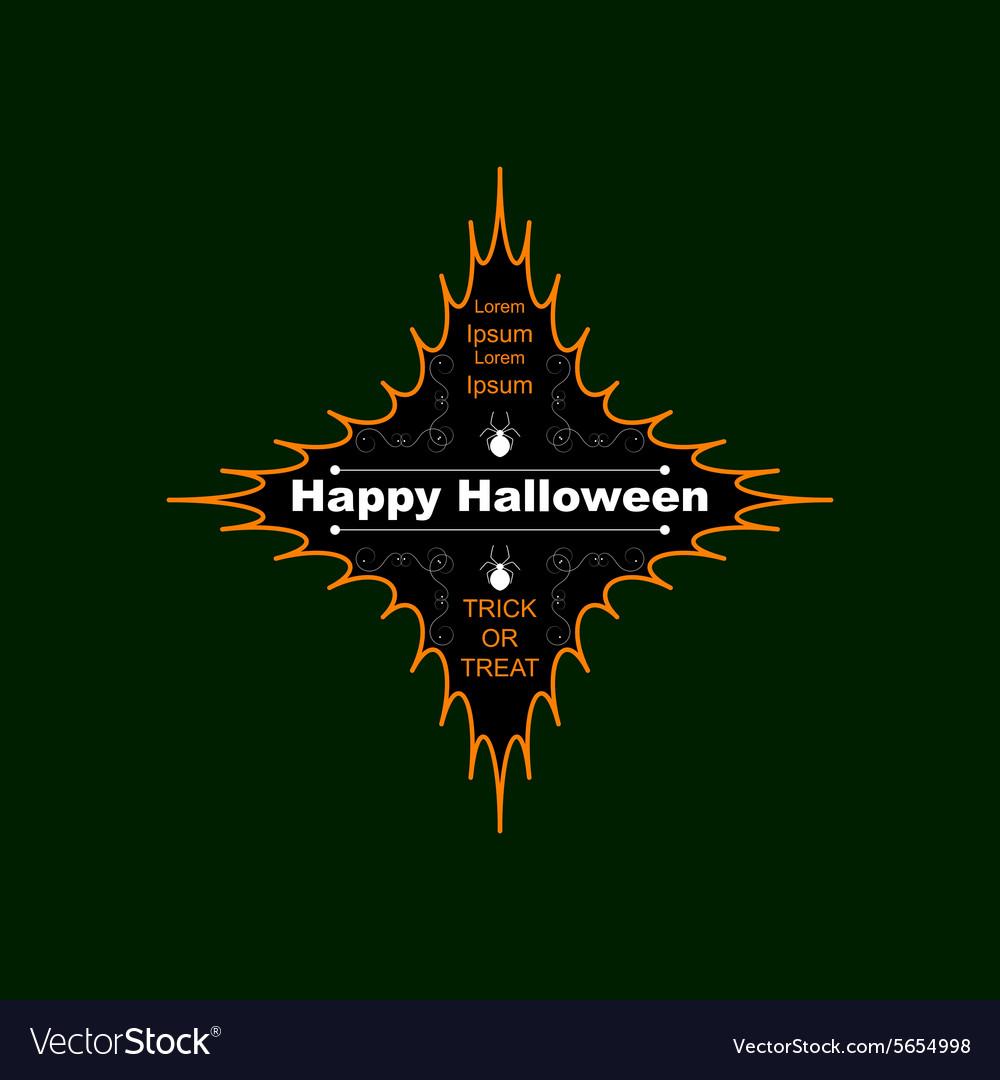 Halloween logo four-pointed star