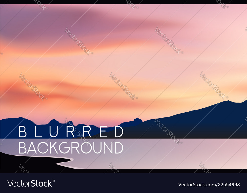 Horizontal wide blurred mountain background