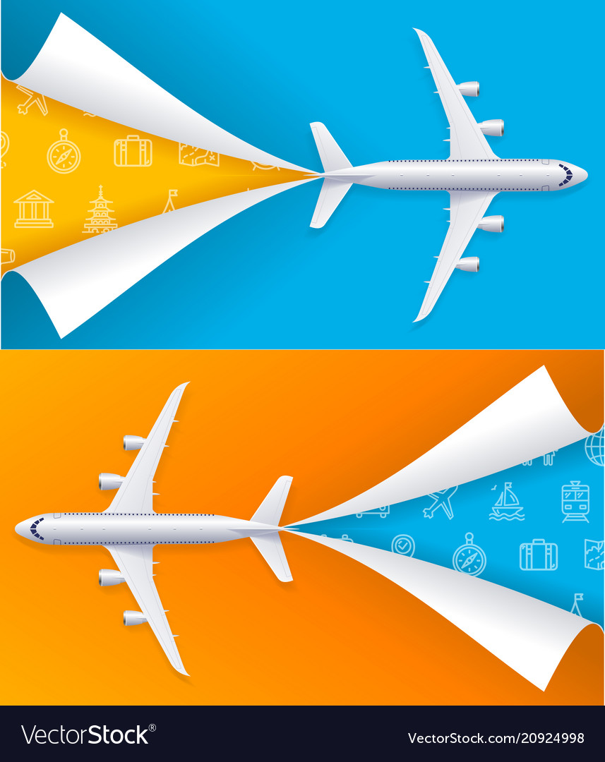 Realistic detailed 3d airplane travel concept