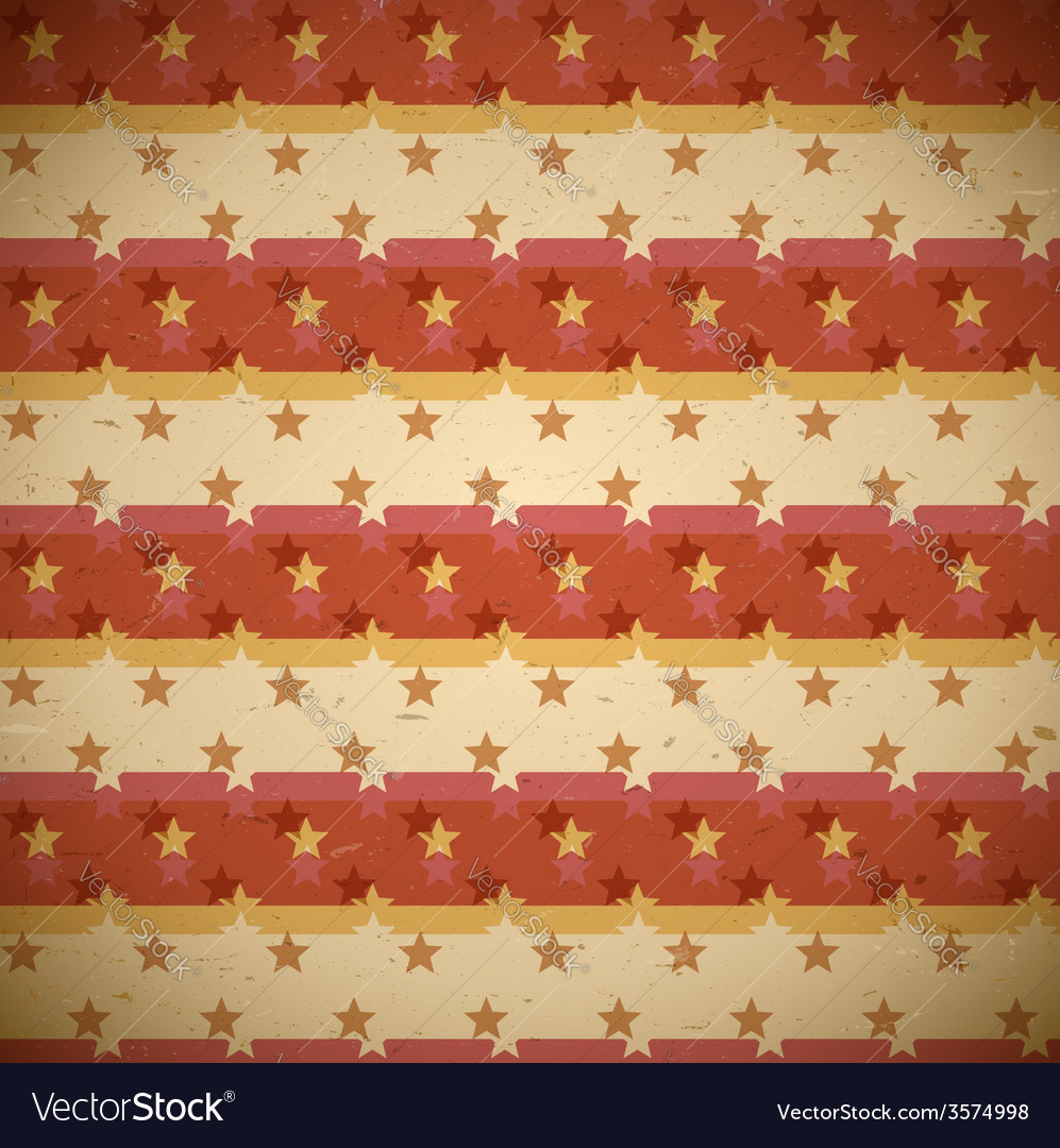 Seamless red pattern with shifted stars