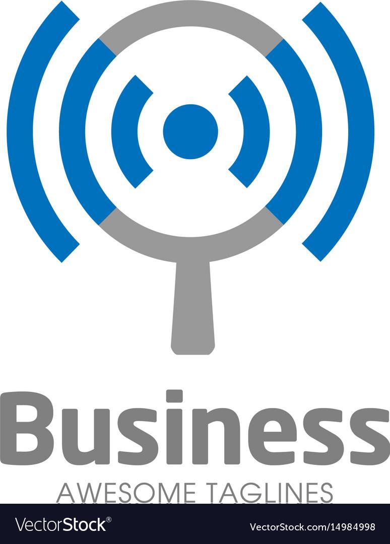 Wifi search logo concept