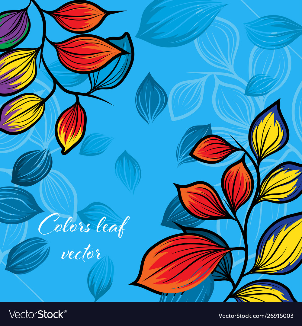 Colors leaf nature vector image