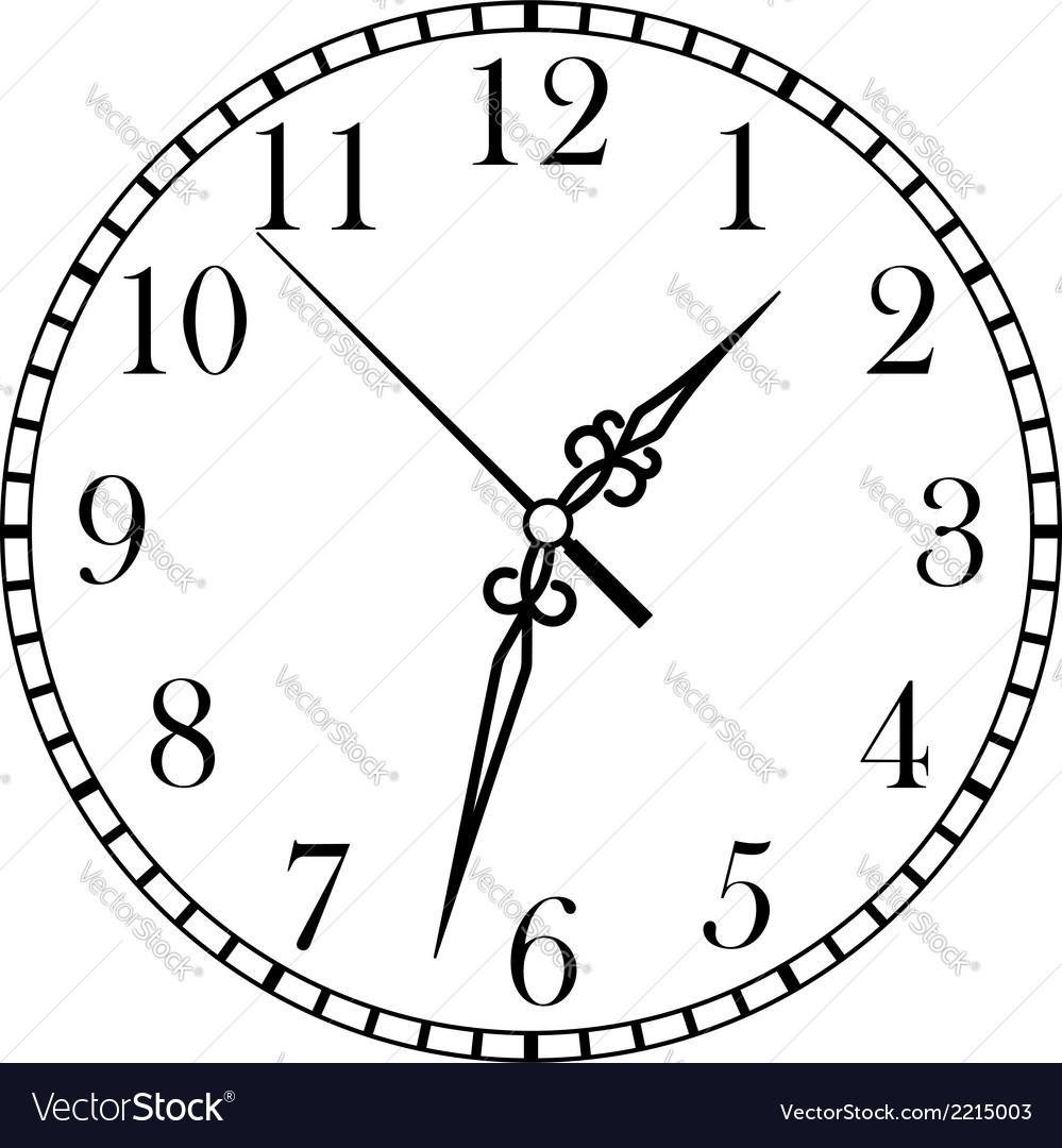Dainty clock dial face