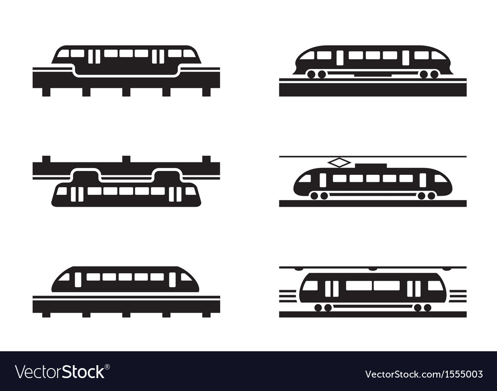 High-speed rail trains vector image