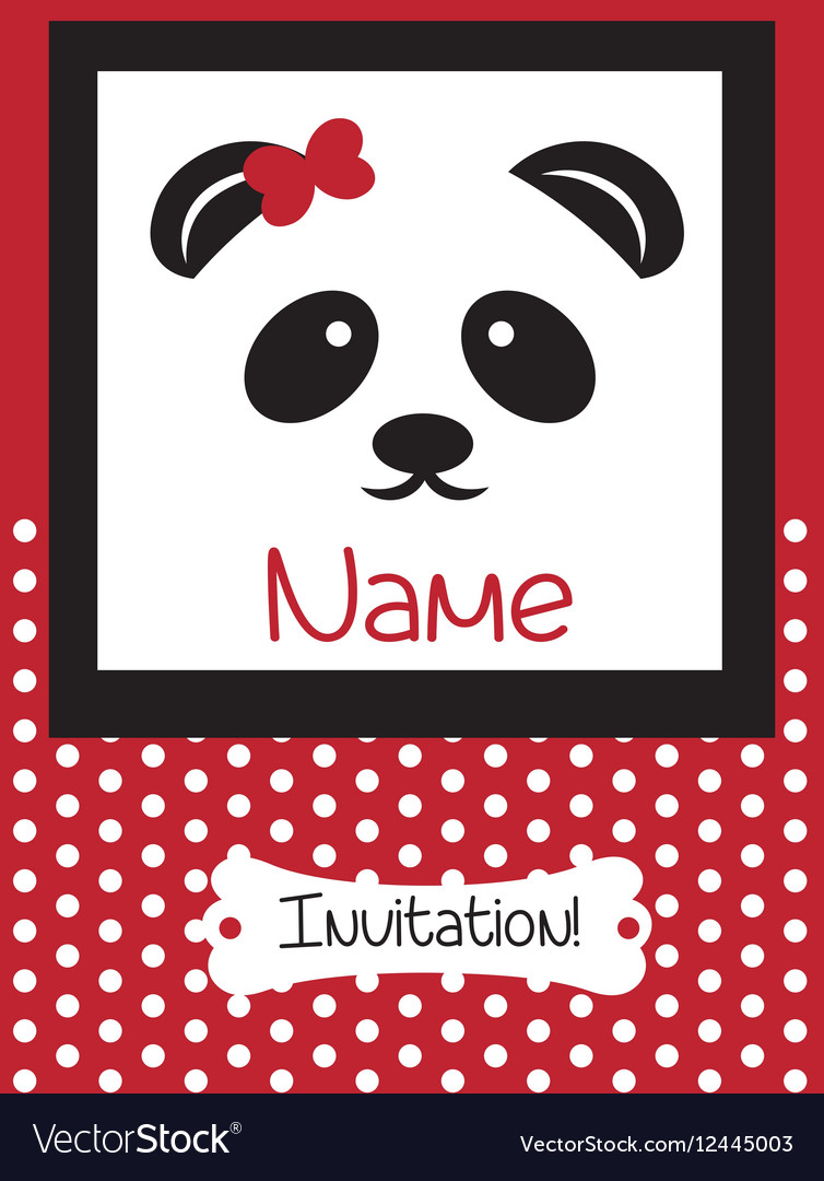 Invitation Card retro dotted pattern
