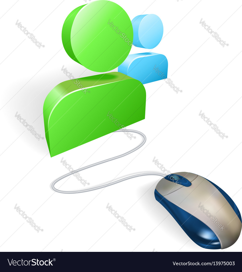 Mouse and social media icon concept