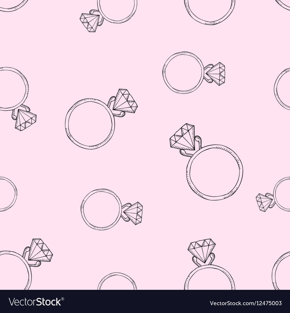 Pink pattern from the diamond ring Royalty Free Vector Image
