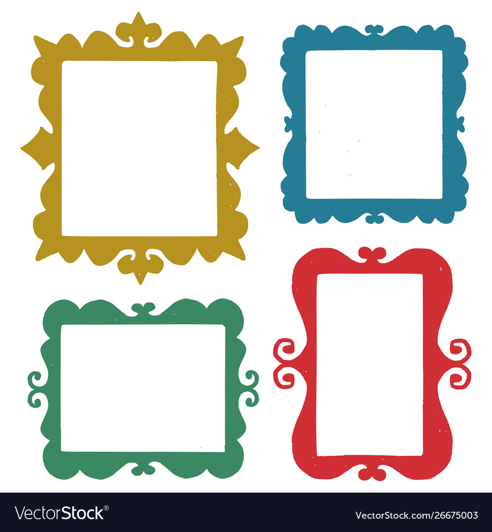 Set hand drawn frames