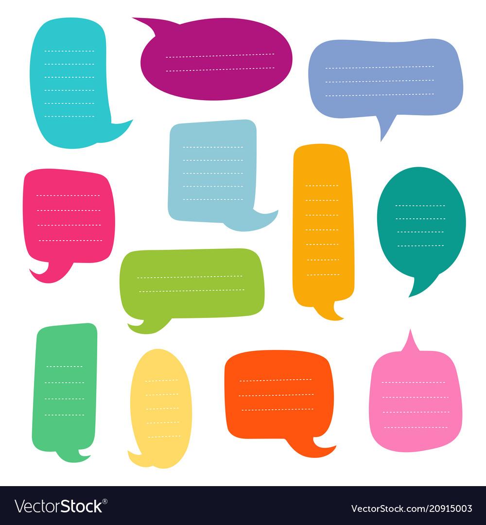Set of empty dialogs boxes speech bubbles