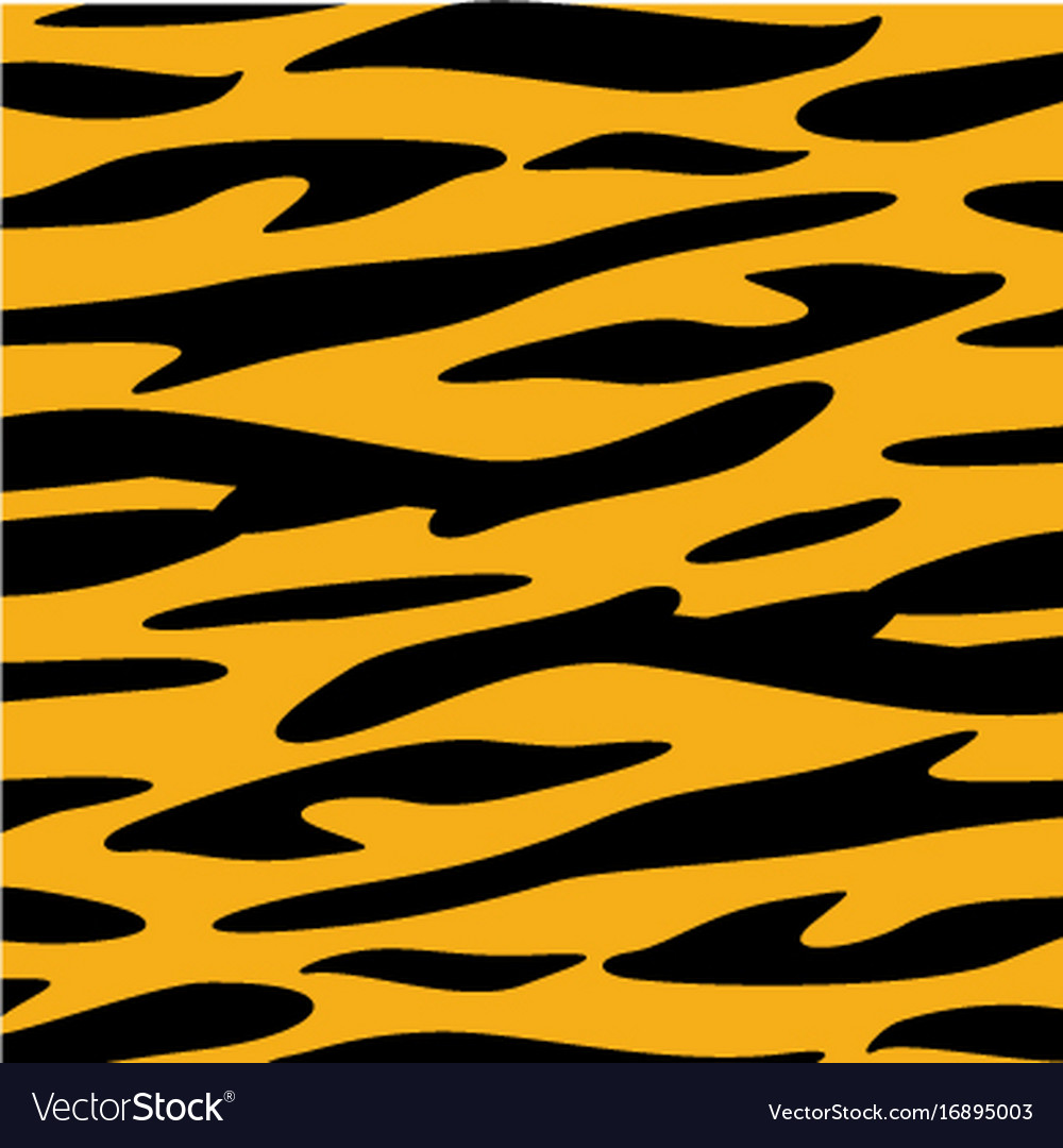 Tiger Skin Animal Texture Wallpaper Royalty Free Vector