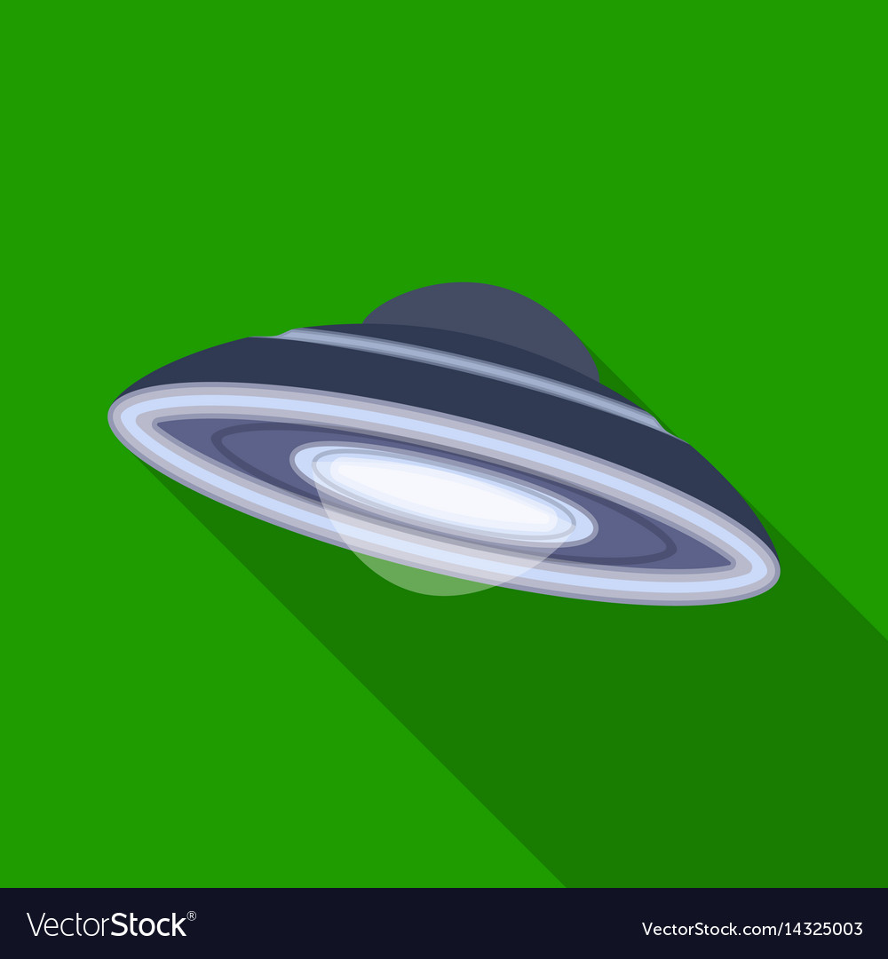 Ufo icon in flat style isolated on white