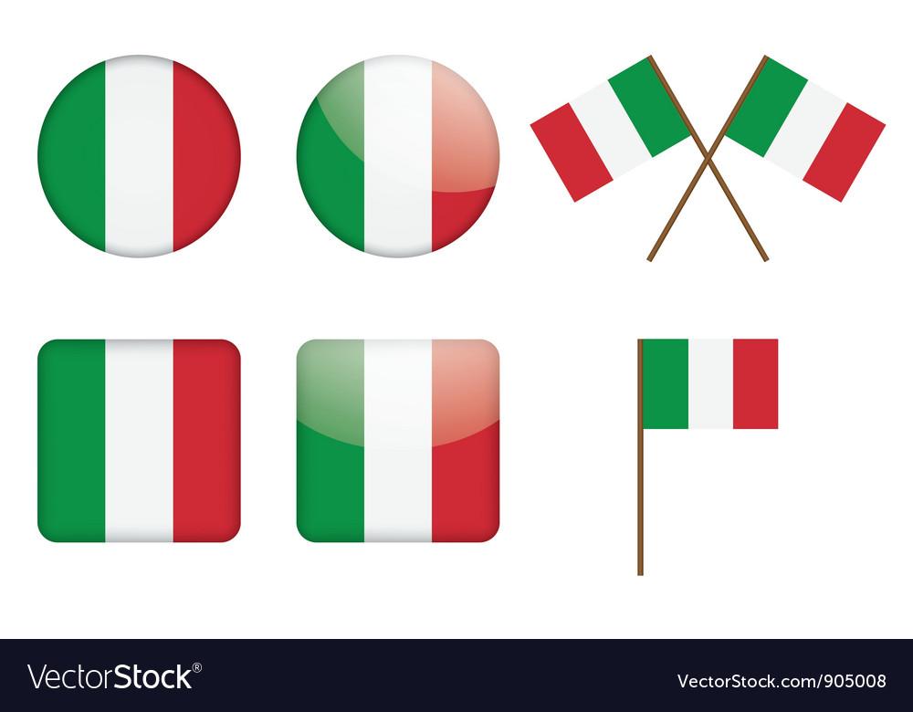 Badges with Italian flag