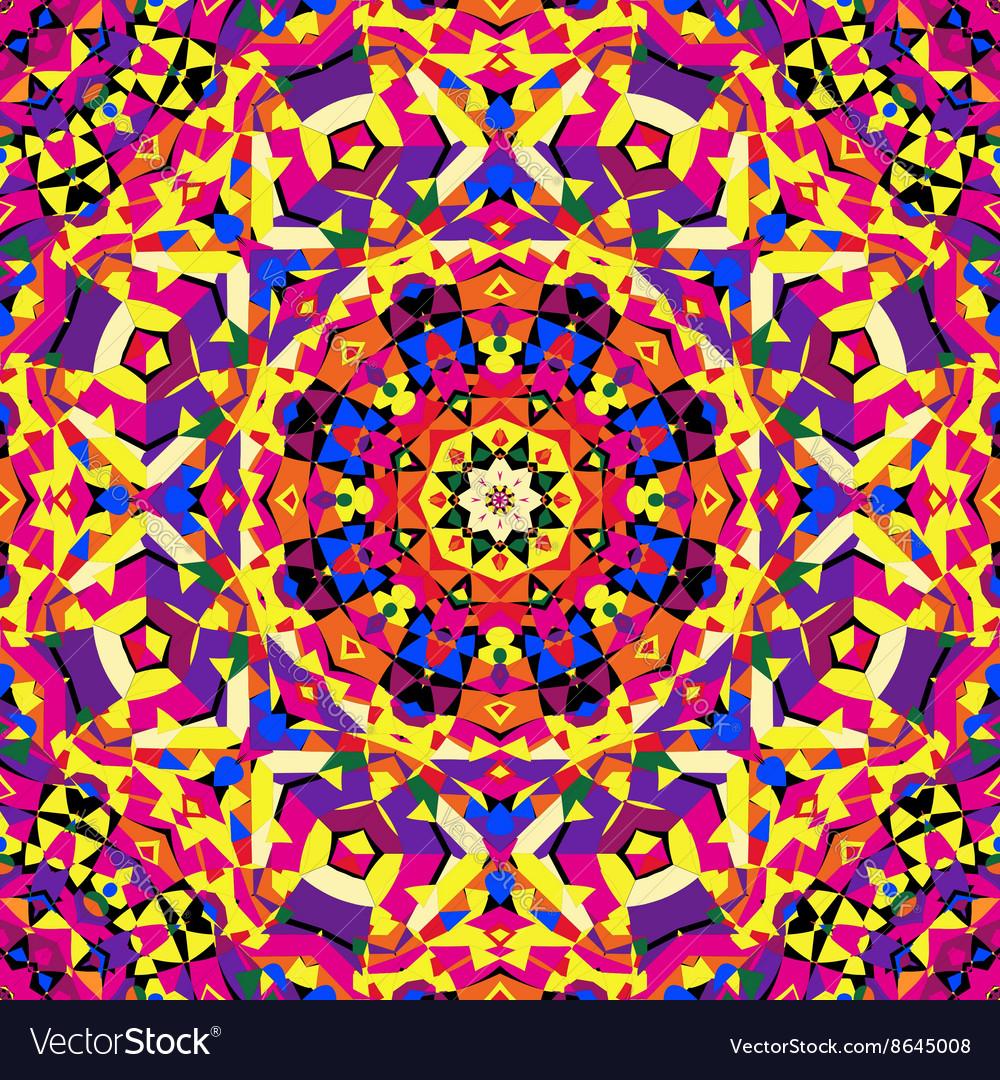Bright circular kaleidoscope pattern