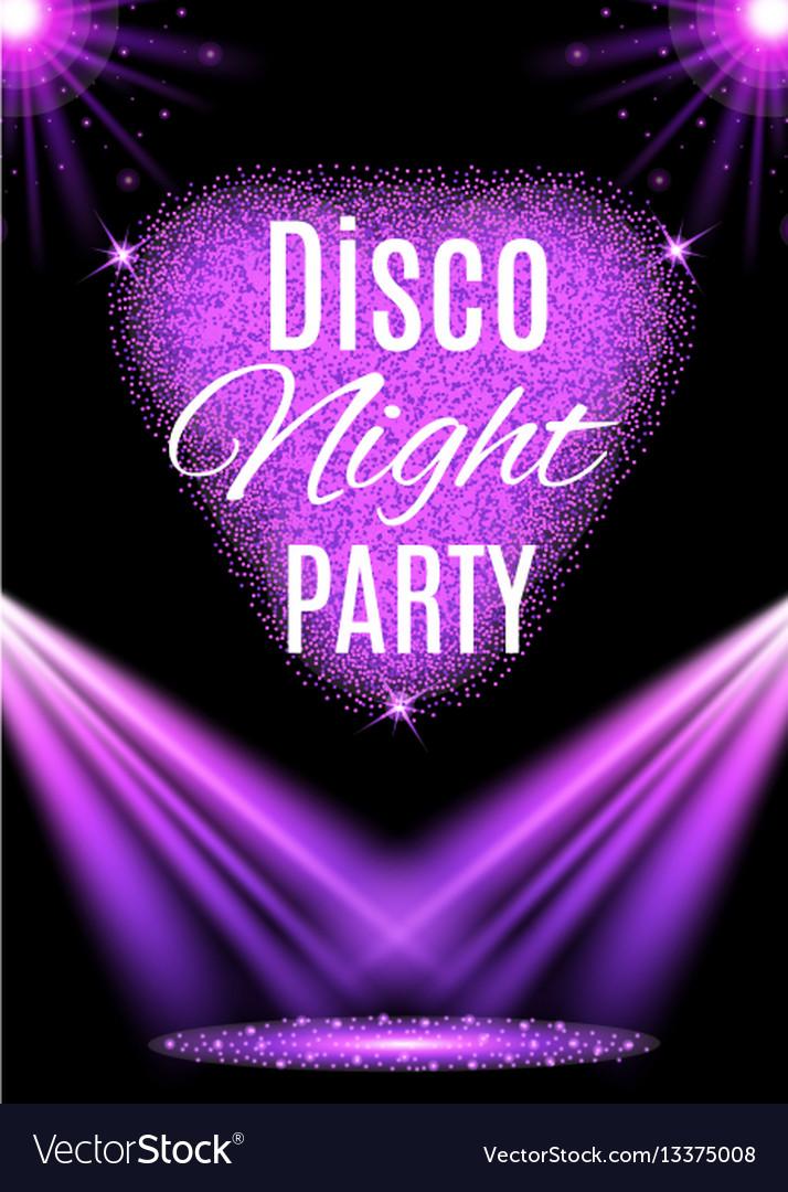 Disco party poster nightclub