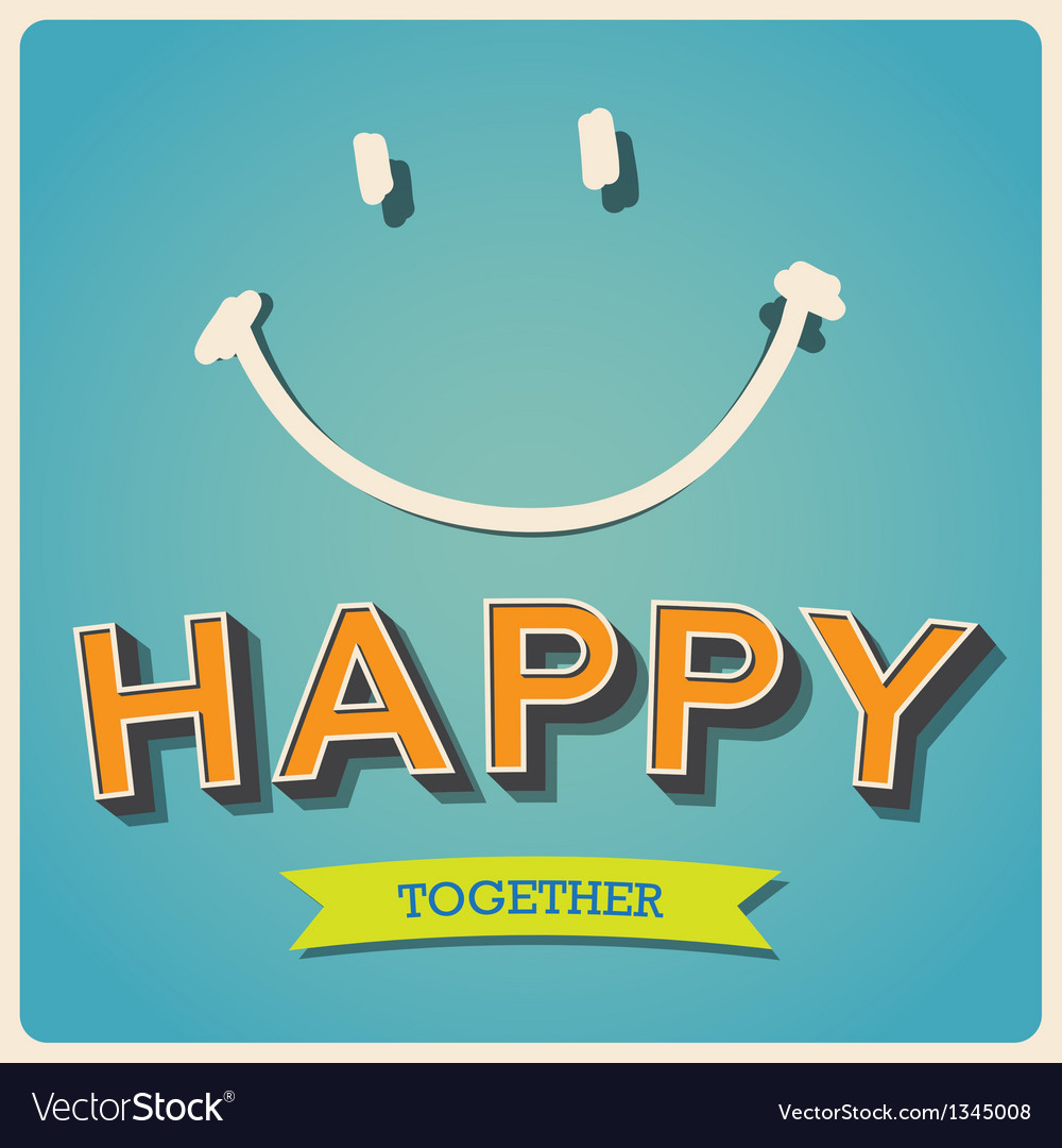Happy and smile face retro poster EPS10