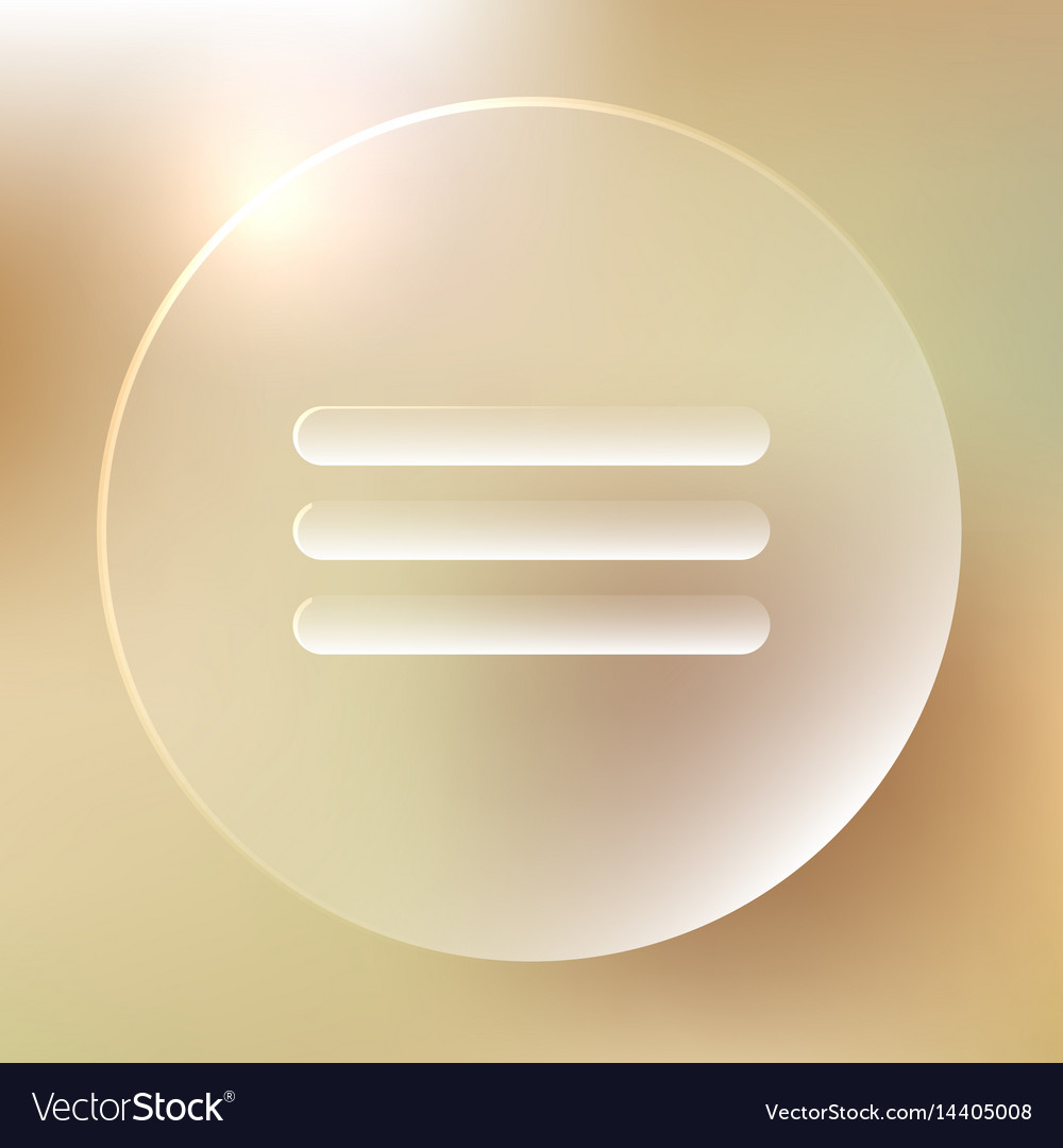 Menu glassy icon menu glassy icon