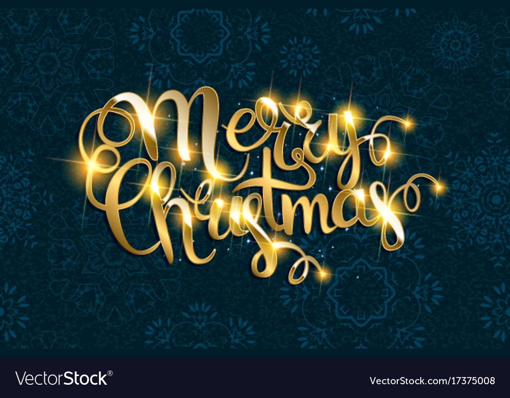 Merry christmas text with glitter elements
