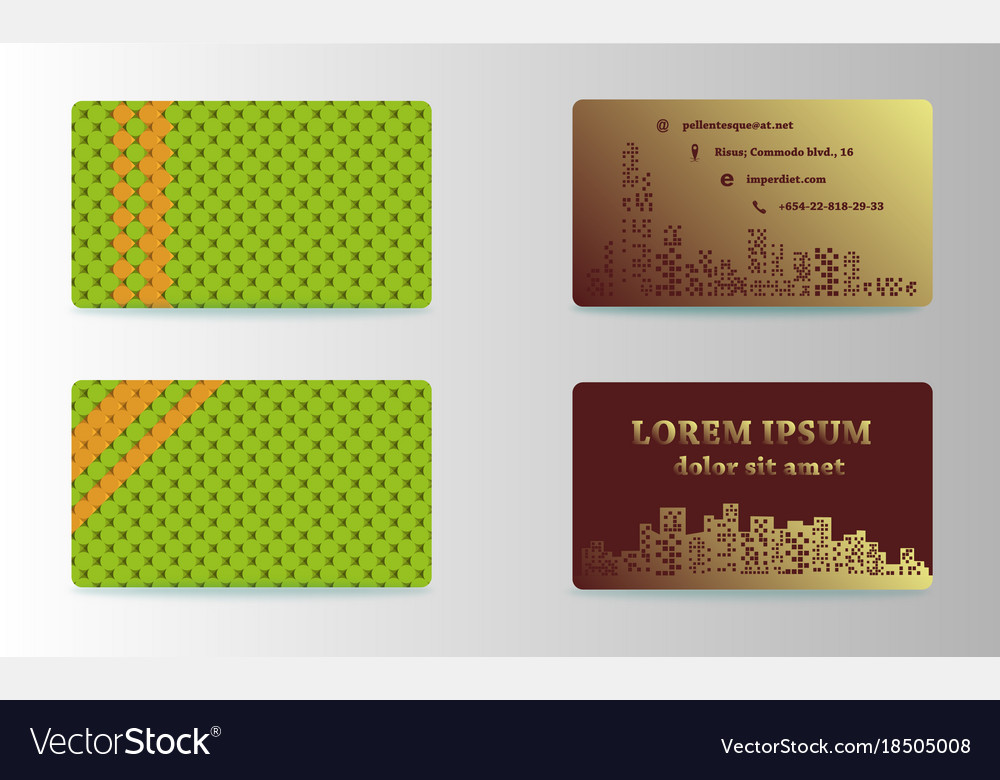 Modern Simple Business Card Template Format Vector Image