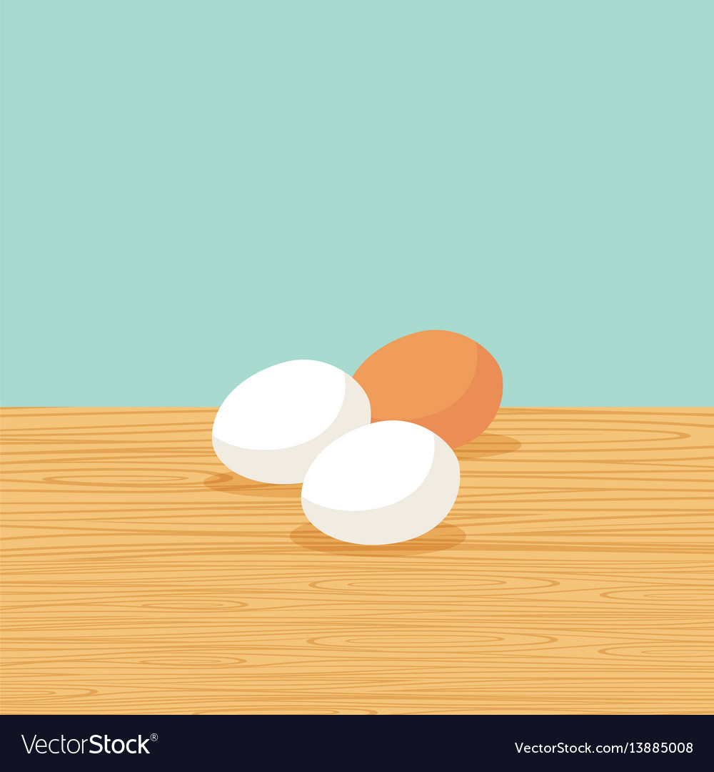 Natural farm eggs on the table vector image