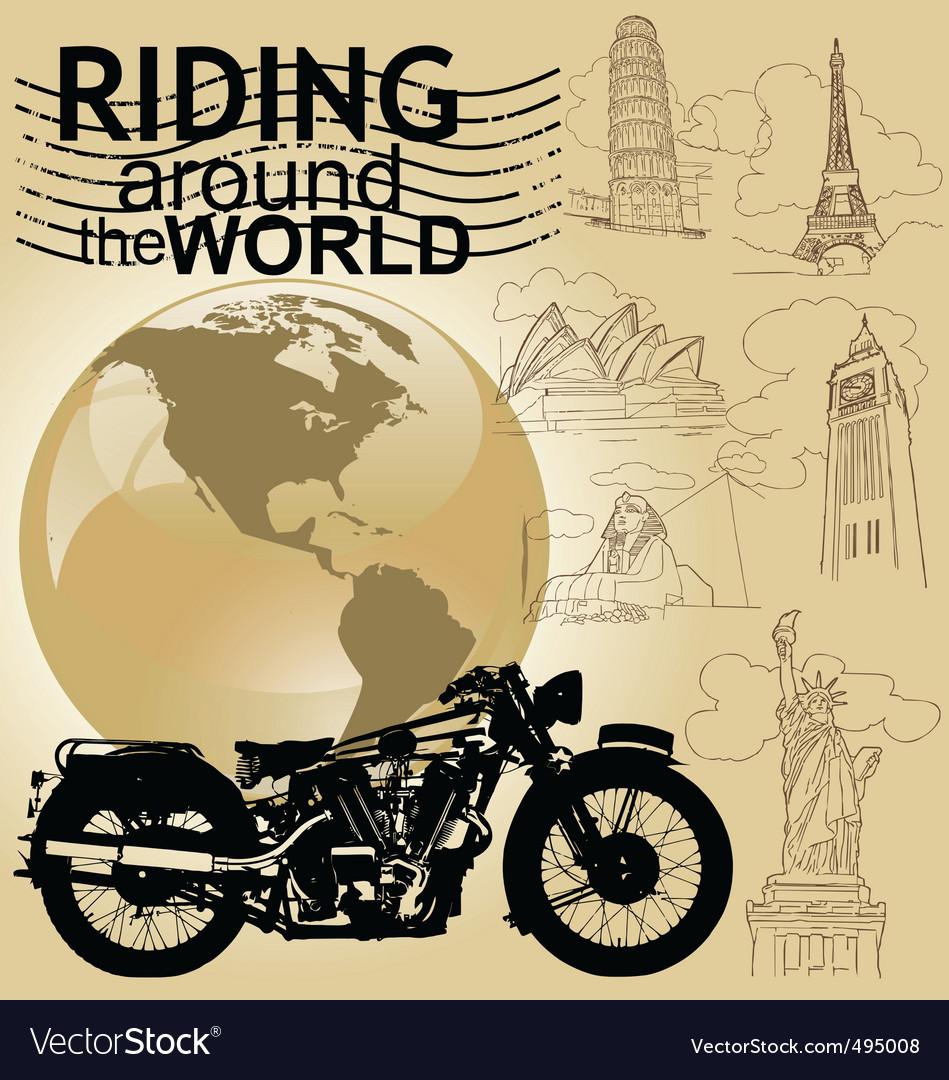 Riding around the world