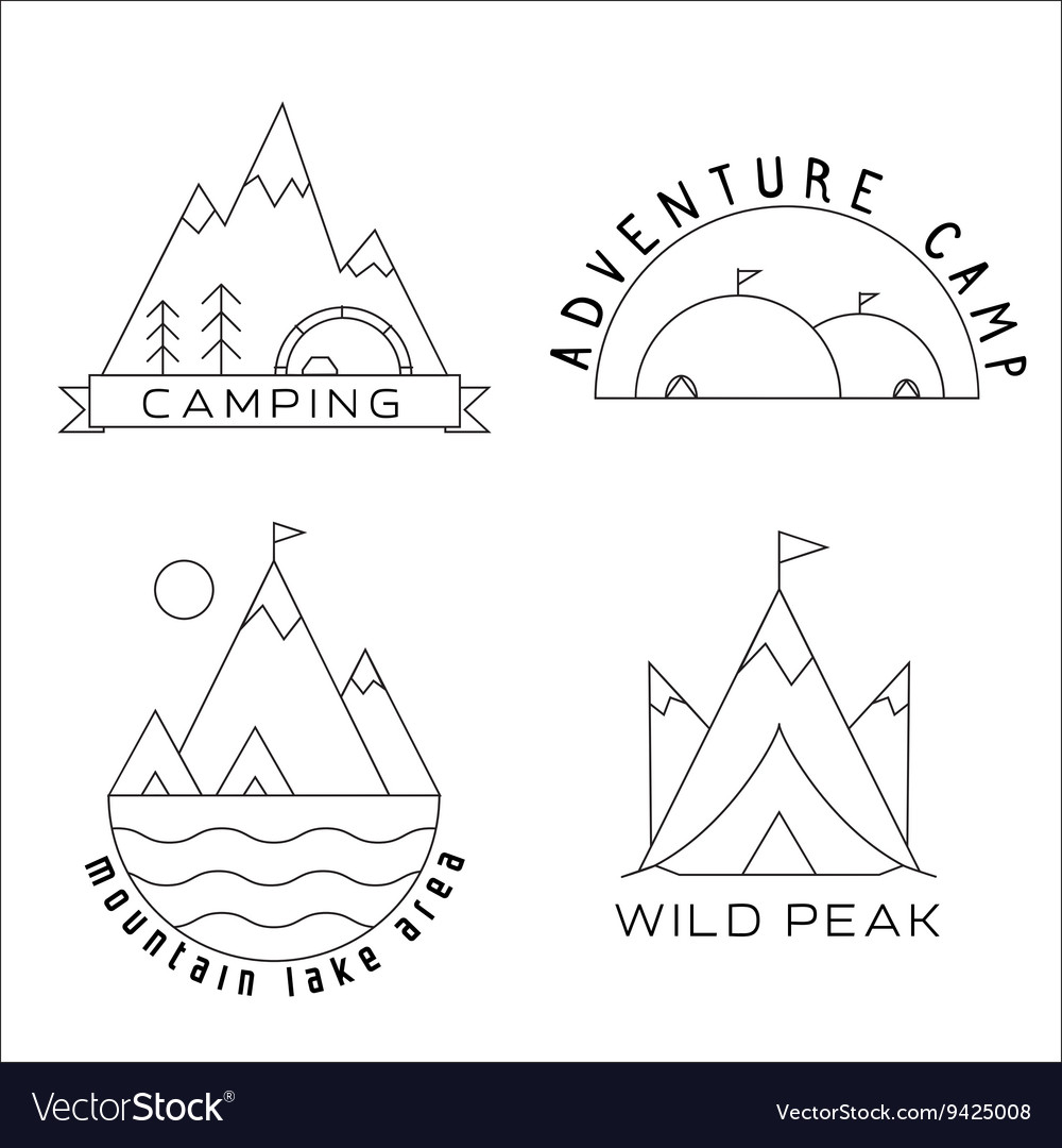 Thin Line Mountain Camp Labels and Emblems