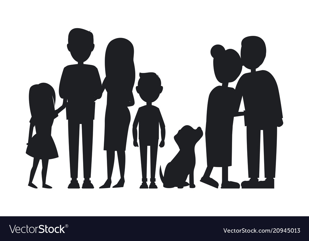 All family members gathered together card