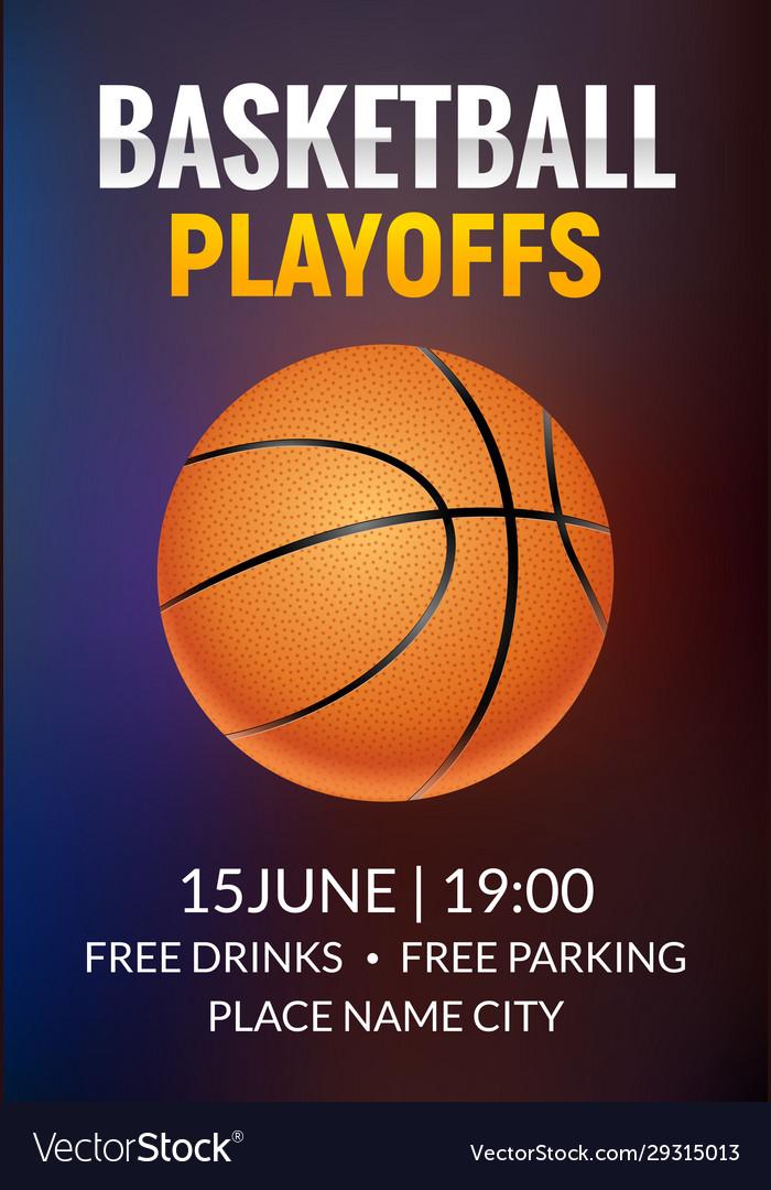 Basketball poster sport flyer basketball