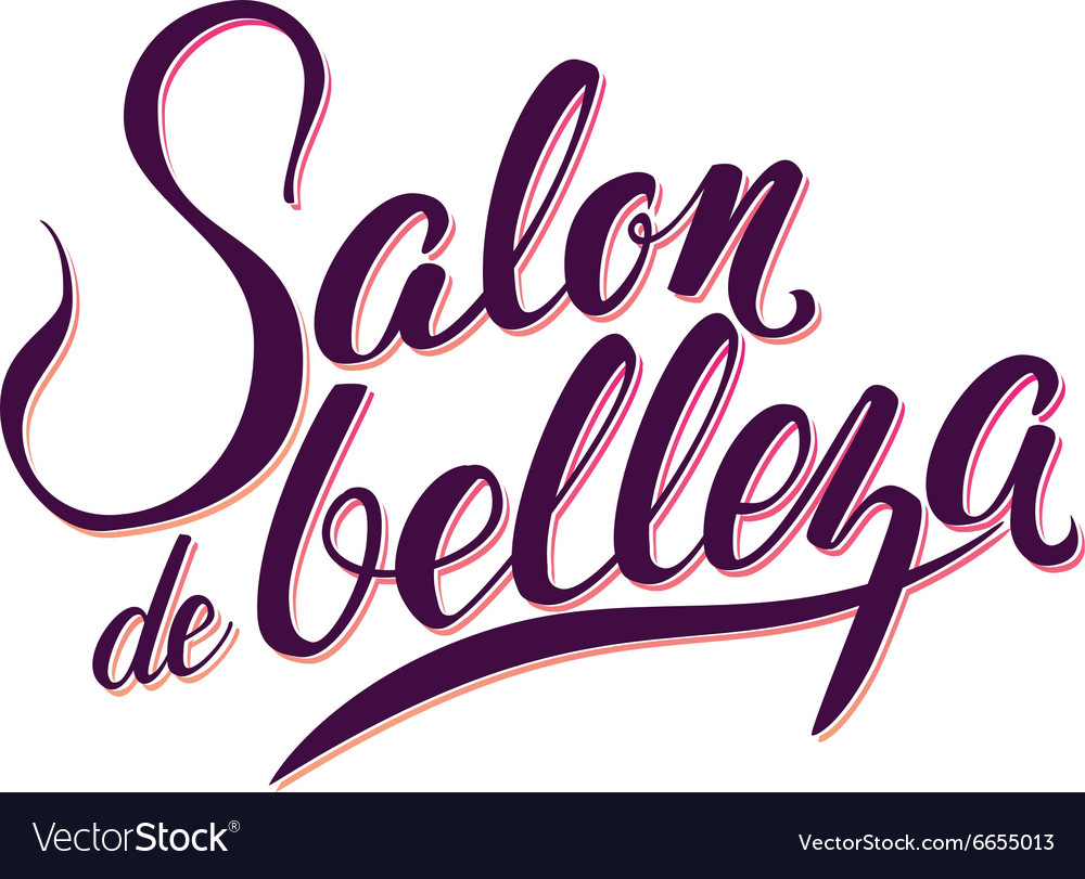 Calligraphy Logo Beauty Salon vector image