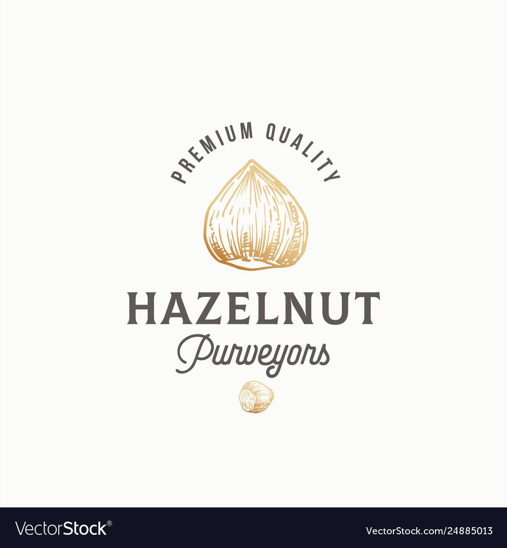 Hazelnut purveyors abstract sign symbol or