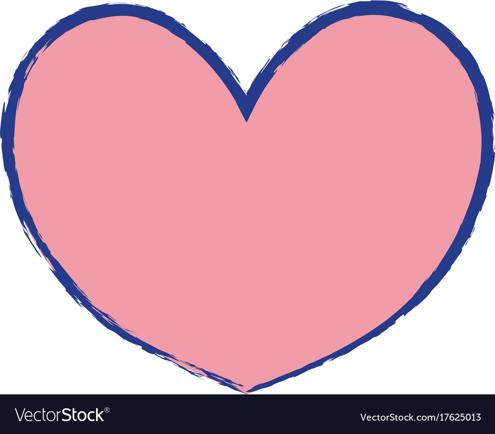 Heart Symbol Of Love And Passion Icon Royalty Free Vector