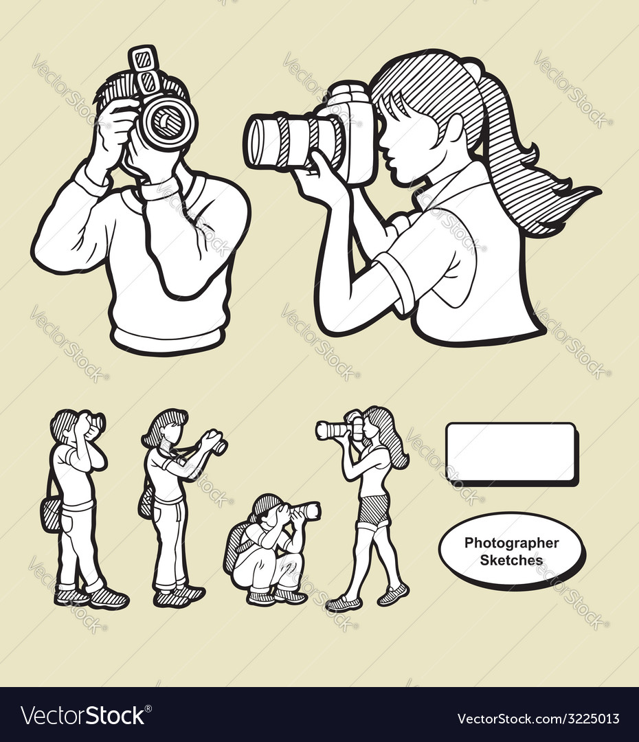 Photographer icons sketch