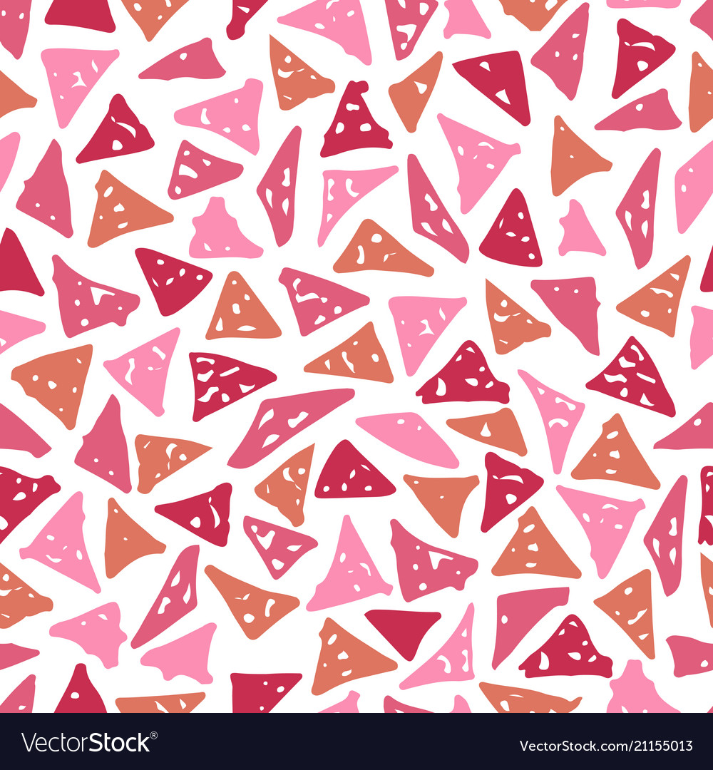 Seamless pattern with hand-drawn triangles