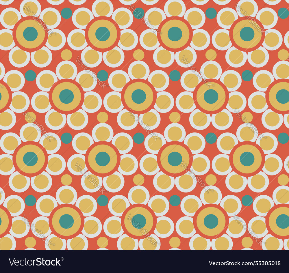 Abstract flowers pattern seamless vintage folk