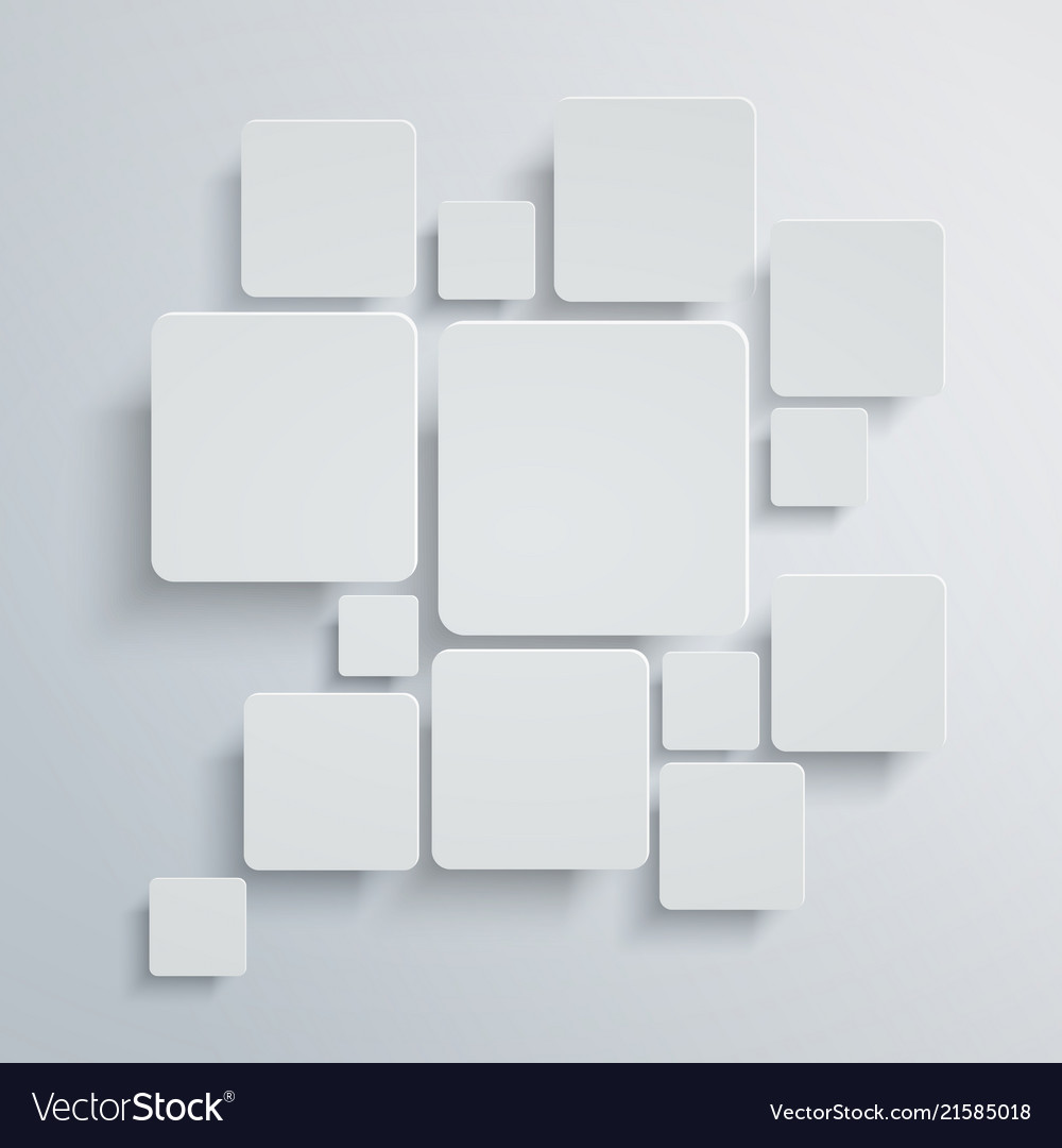 Abstract square background white design