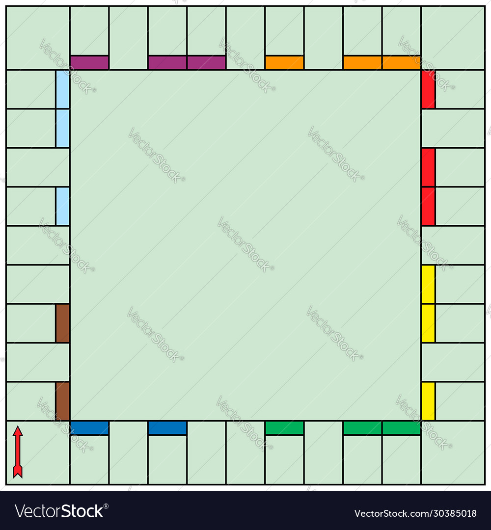 Board game blank template monopoly style