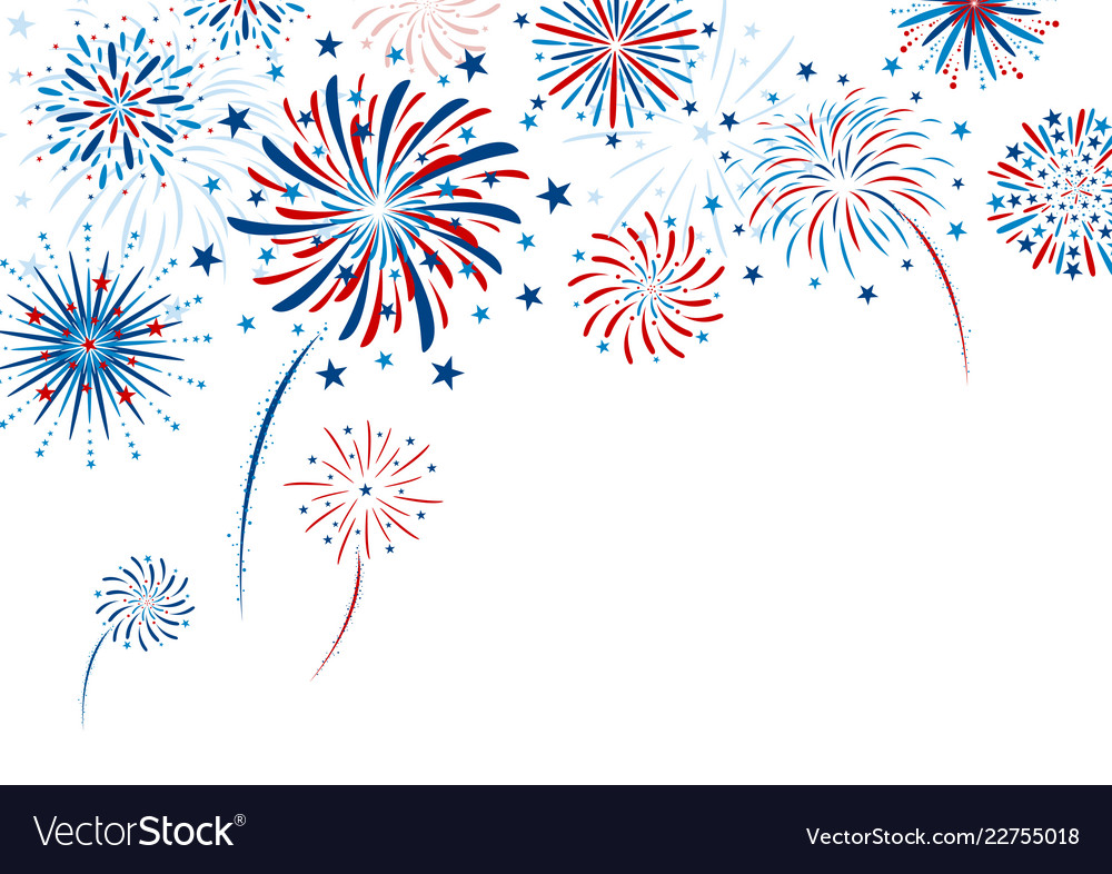 Fireworks design on white background