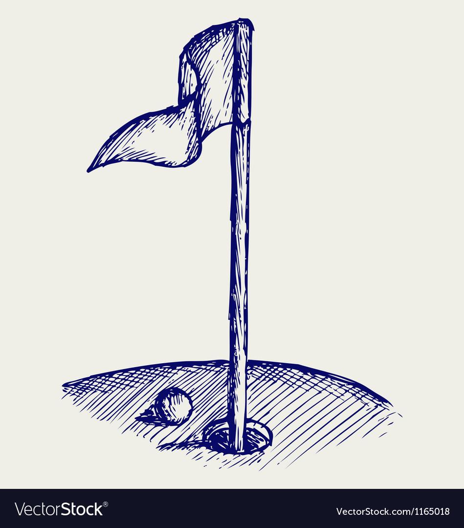 Golf Hole vector image