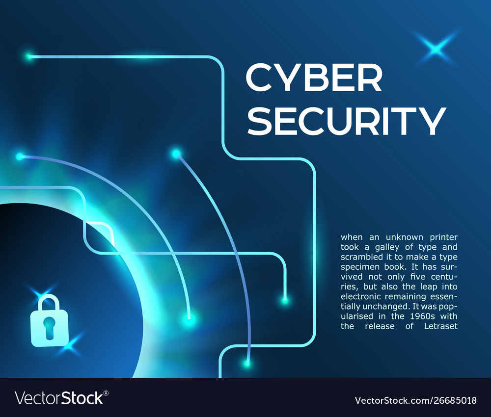 Horizontal banner cyber security information