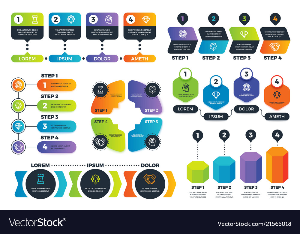 Infographic options arrow diagrams abstract