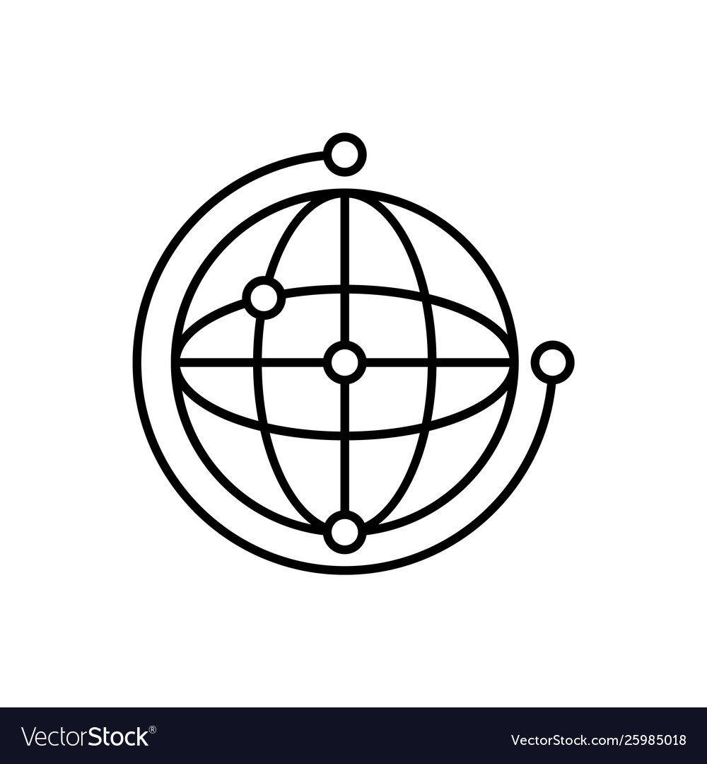 Network global icon - artificial
