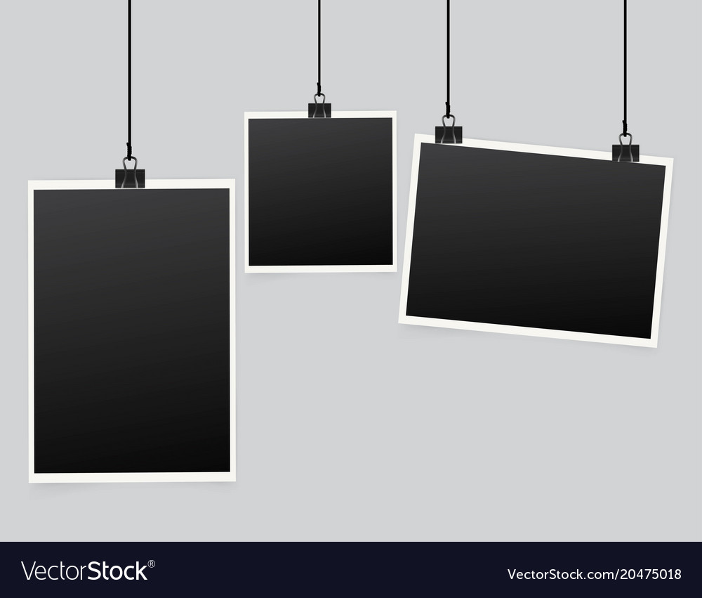 Paper frame isolated on white