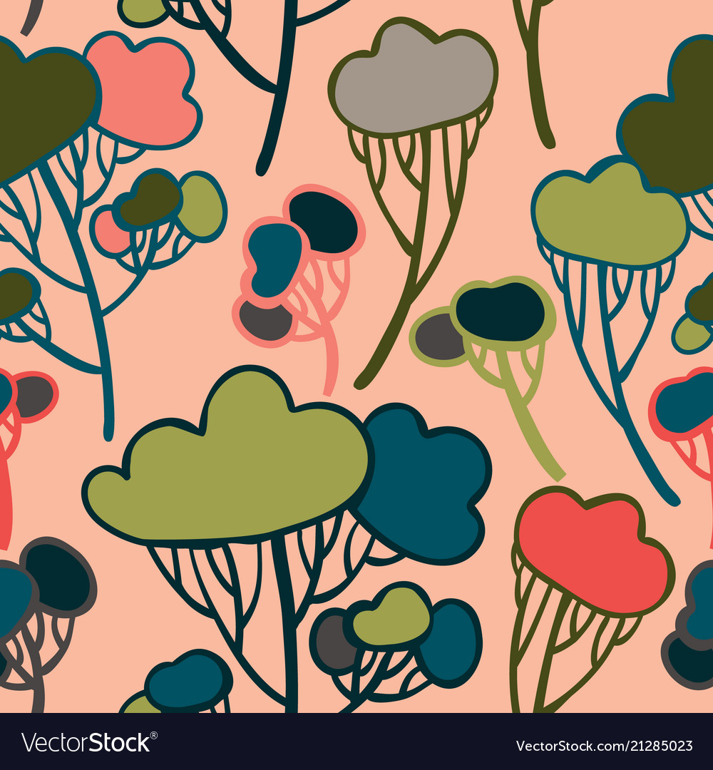 Beautiful and stylish stylized trees vector image