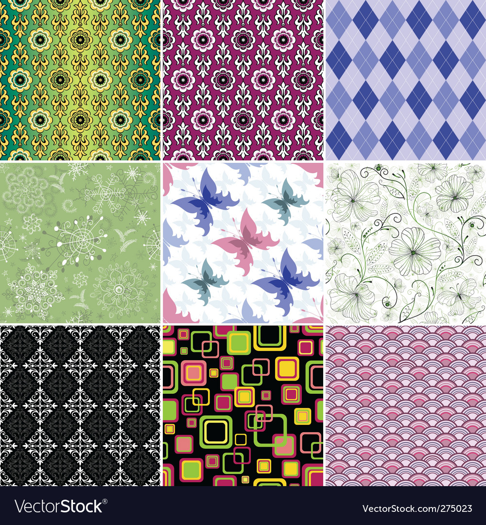 Collection wallpapers vector image