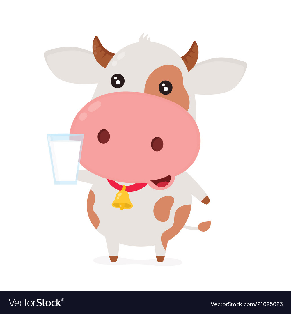 Cute smiling happy funny cow