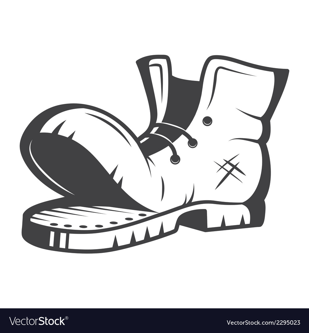 Old boot vector image